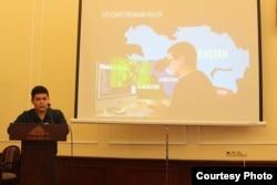 Доклад одного из спикеров, фото Internews Kyrgyzstan