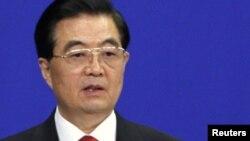 Ху Цьзіньтао выступае на адкрыцьці Азіяцкага форуму