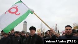 Акция протеста в Ингушетии, 31 октября 2018 года.