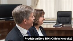 Američka amabasadorica Maureen Cormack i šef Delegacije EU Lars-Gunnar Wigemark