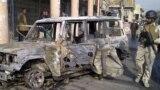 مشهد من انفجار منطقة العلاوي ببغداد