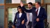 Milorad Dodik sa suprugom i sinom