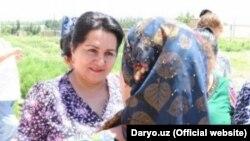 Председатель Комитета женщин Узбекистана Танзила Нарбаева.