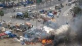 """Бермет аянтындагы окуялар. Ишкер Ник """"Азаттыкка"""" жиберген сүрөттөрдөн. Манама ш., Бахрейн. 16.03.2011. № 1-сүрөт."""