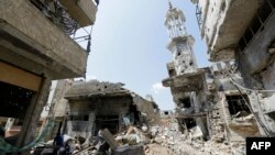 Сириянын Хомс шаары, 12-май, 2014.