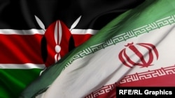İran-Kenya bayraqları
