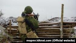 Militar din Grupul operativ al forțelor ruse din regiunea transitreană, imagine generică.