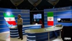 İranda telekanalın studiyası.