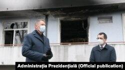 Klaus Iohannis a vizitat Institutul Matei Balș din Capitală după incendiul în care și-au pierdut viața cinci persoane