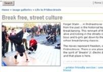 Break dancers, Transdniester style, on pridnestrovie.net