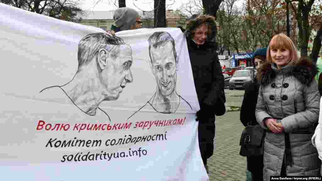 В акції взяла участь мама Олександра Лариса Кольченко