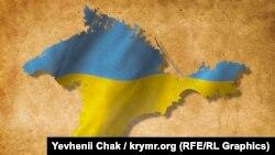 Карта Криму. Ілюстрація