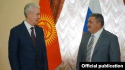 Албек Ибраимов с мэром Москвы Сергеем Собяниным.