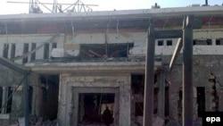 Бишкектеги Кытай элчилиги террордук жардыруудан кийин.