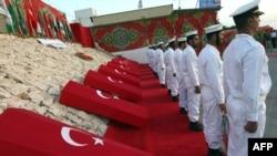 مراسم یادبود برای کشتهشدگان ترک کشتی کمکرسانی به غزه