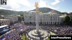 «Վրացական երազանք» դաշինքի հանրահավաքը Թբիլիսիի Ազատության հրապարակում, 27-ը մայիսի, 2012թ.