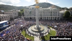 Митинг на площади Свободы, Тбилиси, 27 мая 2012