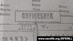 Uzbekistan - passport copy of uzbek service moderator Oktambek Karimov