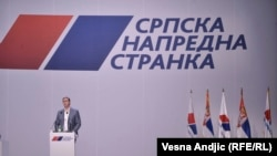 Aleksandar Vučić na skupu SNS-a u Beogradu, 16. april 2019.