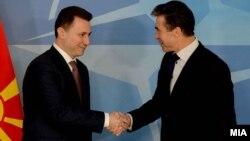 Премиерот Никола Груевски и генералниот секретар на НАТО Андерс Фог Расмусен