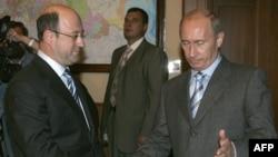 Олександр Бабаков (л) і Володимир Путін (п), архівне фото 2007 року