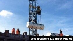 Погрузка радиоактивных отходов в Амстердаме