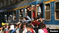 Австрия жана Германияга шашылган мигранттар. Венгрия, Будапешт. 3-сентябрь.