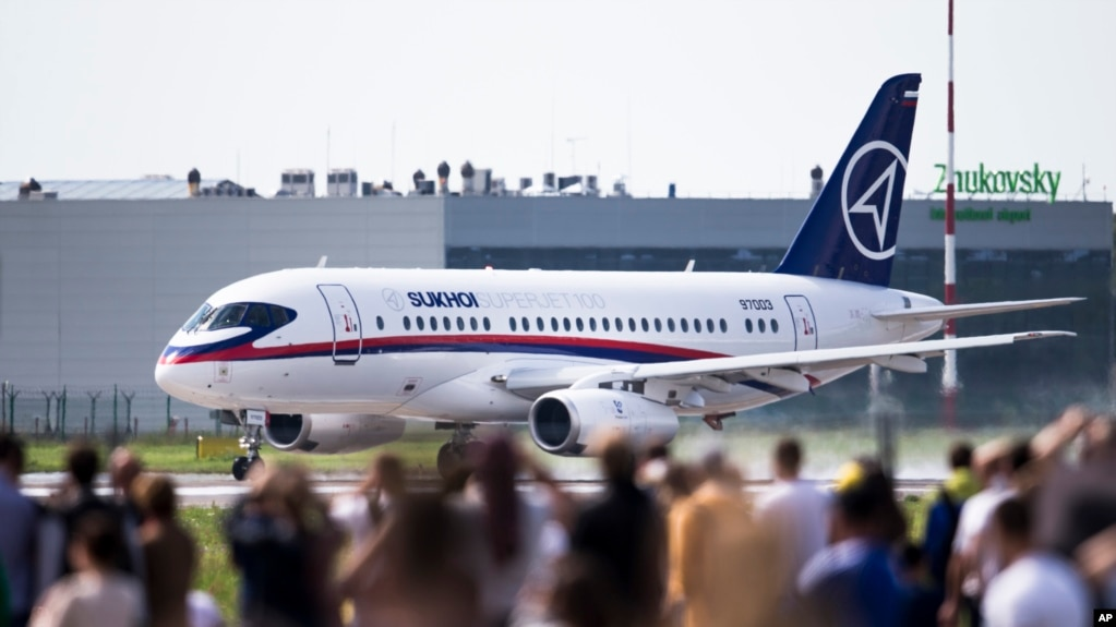 The plane was reportedly a Sukhoi Superjet 100 (file photo)