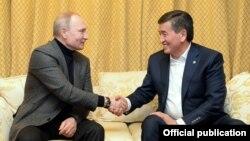 Орусиянын президенти Владимир Путин жана Кыргызстандын президенти Сооронбай Жээнбеков. Сочи. 9-февраль, 2019-жыл.