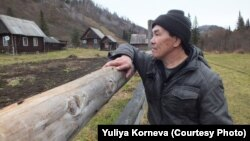 Коренной шорец Федор Кыдымаев.