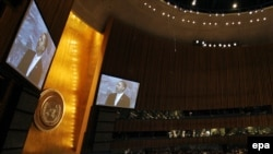 Именно в Нью-Йорке могут определиться перспективы российско-американских отношений (На фото: Барак Обама выступает на саммите ООН в Нью-Йорке, посвященном климатическим проблемам)