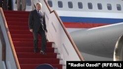 Прибытие Путина в Душанбе. Сентябрь, 2014