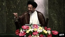 Mahmud Alavi in an address to parliament