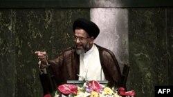 محمود علوی، وزیر اطلاعات، در مجلس ایران