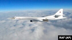Two Russian Tu-160 Blackjack bombers were spotted off the North American coastline and escorted away by U.S. and Canadian jets. (illustrative photo)