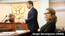 Ксения Собчак и Илья Новиков в Верховном суде.