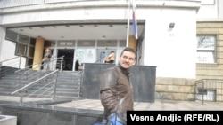 Marko Mišković napušta zgradu suda, 8. mart