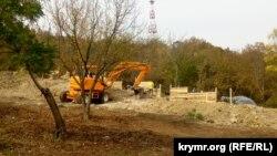 Будівельні роботи в історичному центрі Севастополя, 25 жовтня 2017 року