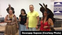 Эксендер Бариев (второй справа) на ежегодной сессии Экспертного механизма ООН по правам коренных народов в Женеве