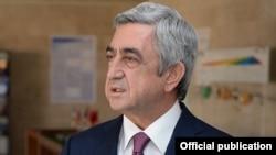Armenia - President Serzh Sarkisian is interviewed by the Armenpress news agency, 10Nov2014.