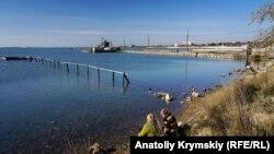 Будівництво набережной на Сакському озері