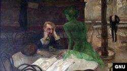 Карціна чэскага мастака Віктара Олівы «Аматар абсэнту» (1901).