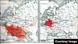 Розподіл найголовніших народностей (за рідною мовою) за даними перепису 1897