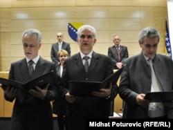Svetozar Pudarić (prvi s desna) uz Mirsada Kebu i Živka Budimira