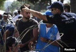 Izbjeglice na grčko makedonskoj granici