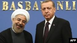 İran prezidenti Hassan Rouhani və Erdoğan