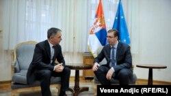 Milorad Pupovac sa Aleksandrom Vuičićem u Beogradu