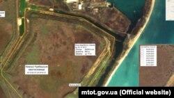 Зображення місця видобутку «токсичного піску» в Криму (фотосхема)