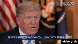 Trump tokom intervjua za američku TV mrežu NBC
