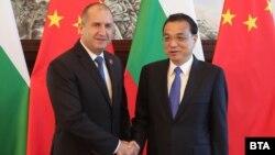 Българския президент Румен Радев и министър-председателят на Китай Ли Къцян